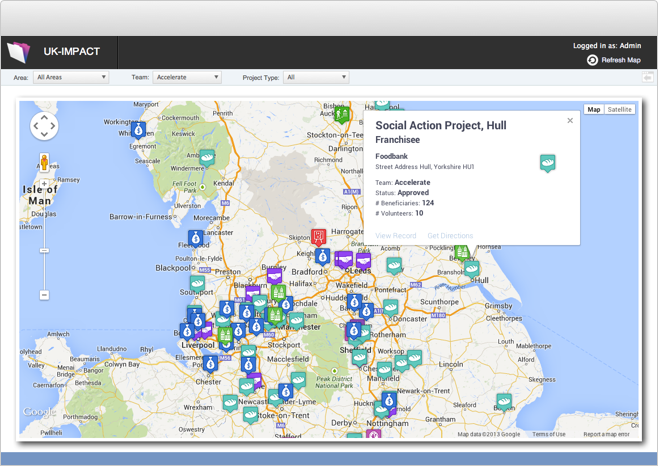 Data Solution Screenshot - Map View
