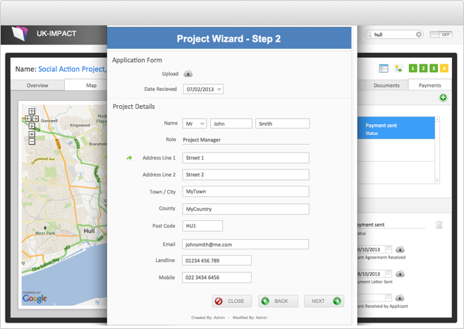 Data Solution Screenshot - Project Wizard
