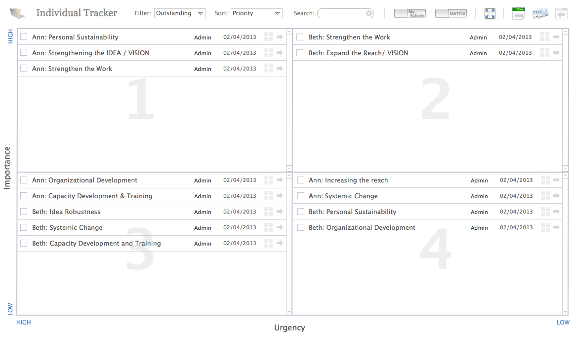 Portfolio - Inspired Individuals Task Manager Tool Screen Shot